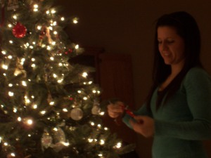 Kate and our tree