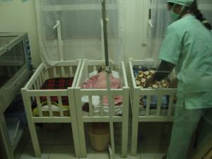 Nursery at the hospital