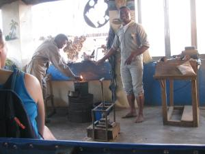 A demonstration of how to make just about anything from a zebu horn