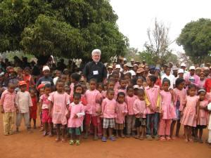 The preschool children assembled for the morning devotion.