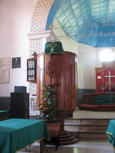 Pulpit with Luther Rose